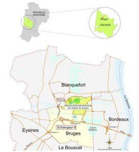 Localisation du Marais de Bruges